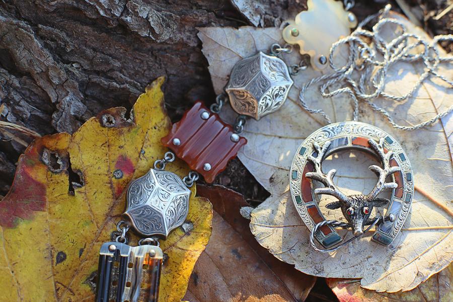 Victorian Scottish Agate jewelry