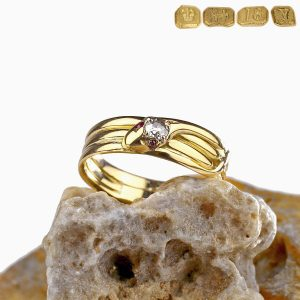 1873 Victorian Snake Ring Diamond 18K Gold