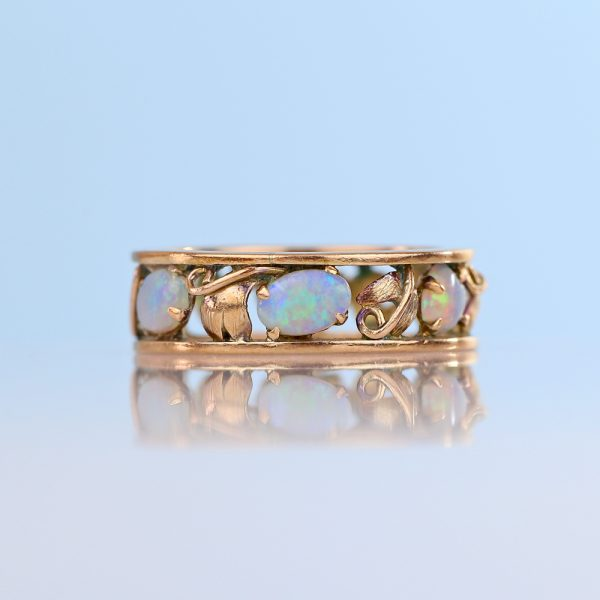 Antique Opal Eternity Ring