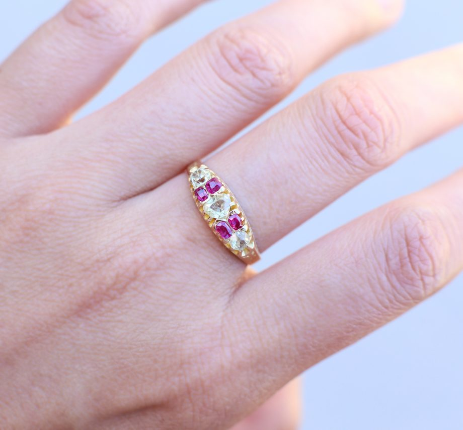 Pink Antique Victorian Ring