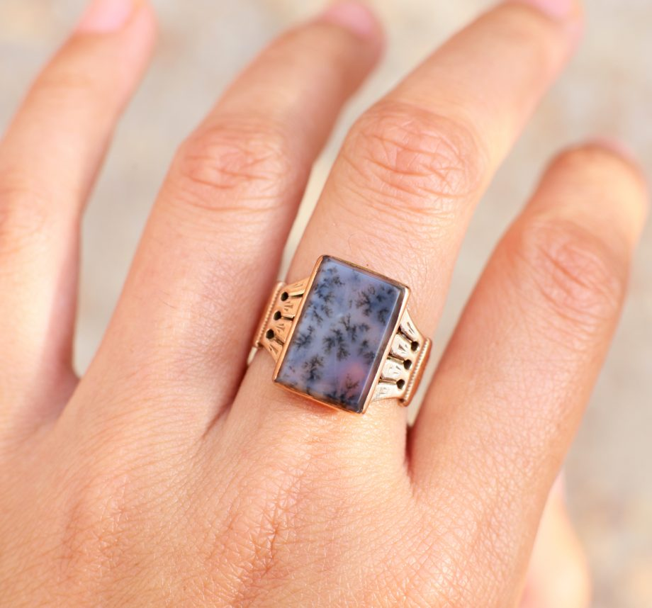 Victorian Moss Agate Ring