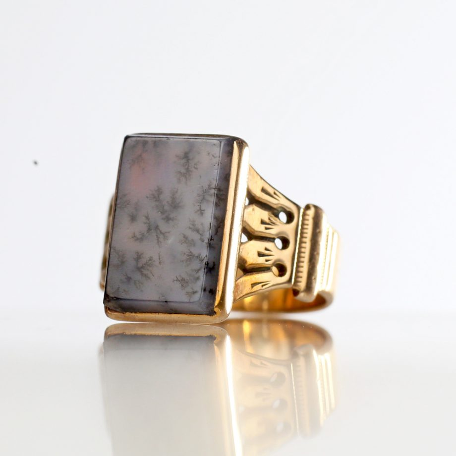 Victorian Dendritic Agate Ring