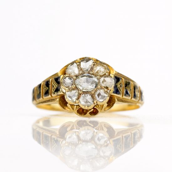 Victorian Foiled Rose Cut Diamond Ring