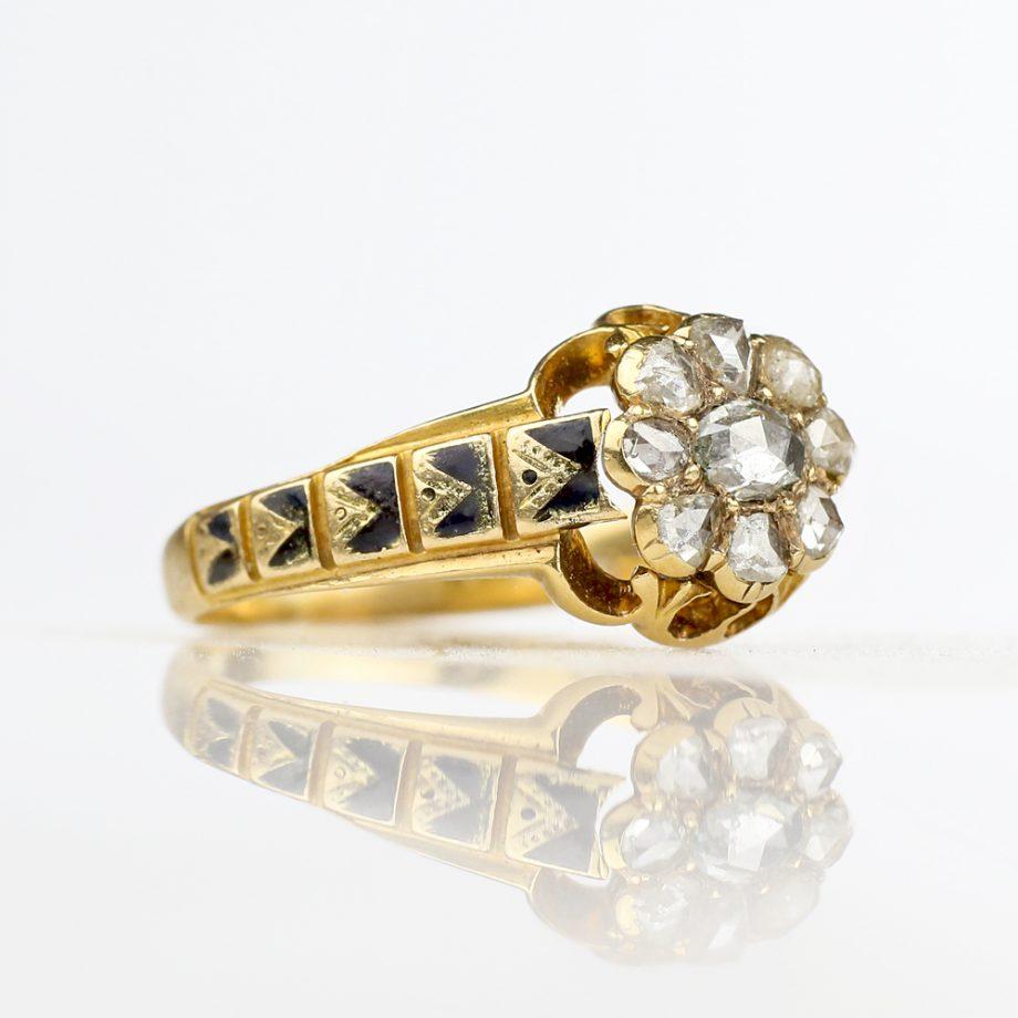 Victorian Foiled Rose Cut Diamond Ring