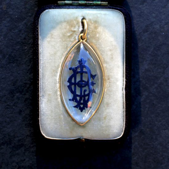 Victorian Essex Crystal Mourning Pendant
