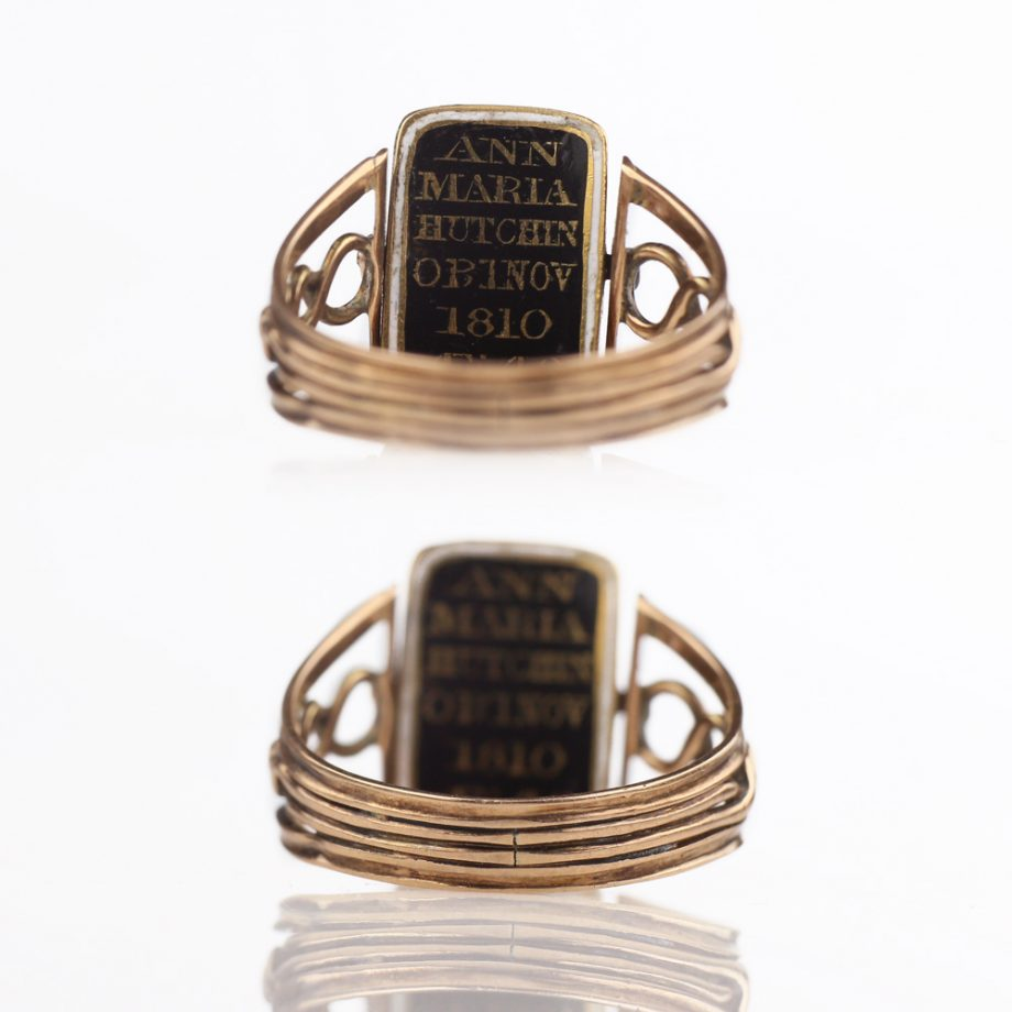 1810 Georgian Doubled-Sided Swivel Mourning Ring