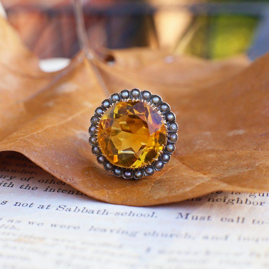 Antique Citrine Ring