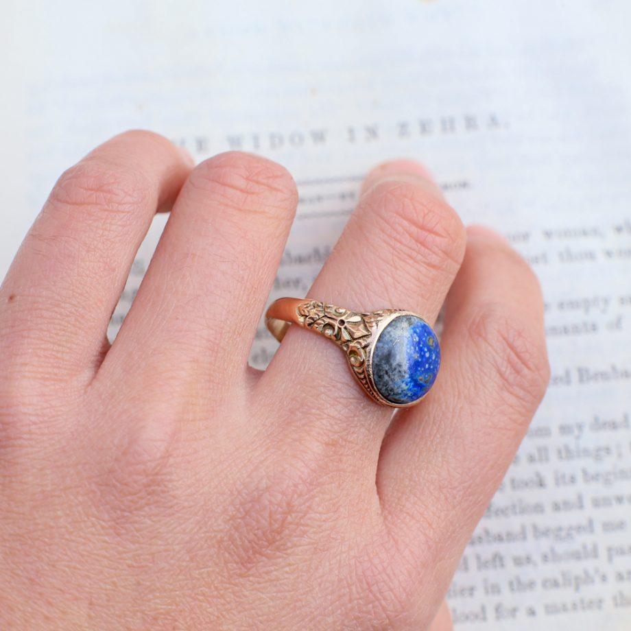 Antique Victorian Lapis Lazuli Ring