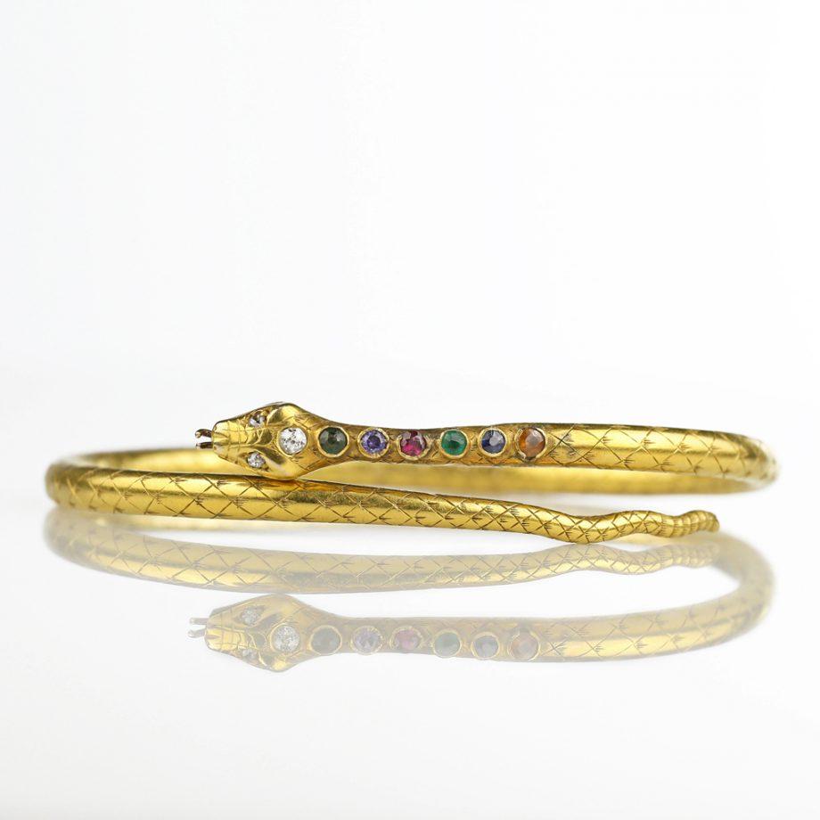 1906 Edwardian 'DEAREST' Acrostic Snake Bracelet