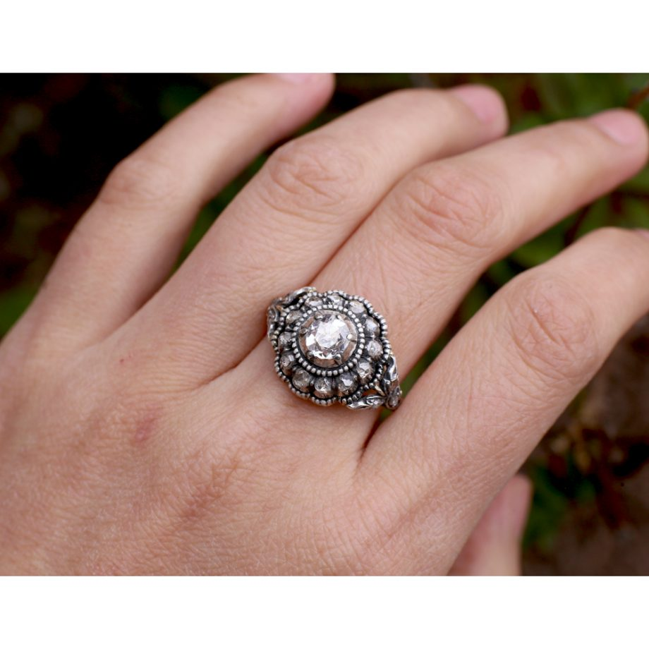1900s Dutch Georgian-style Diamond Cluster Ring