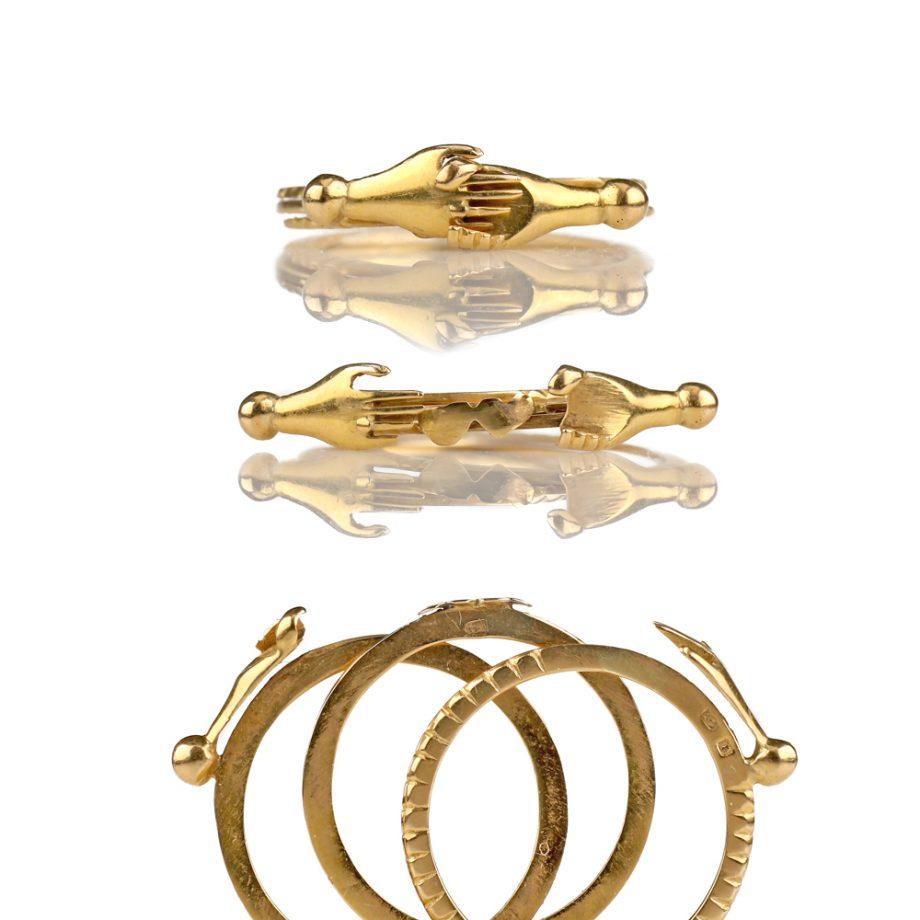 Antique Portuguese 19k Fede Gimmel Ring