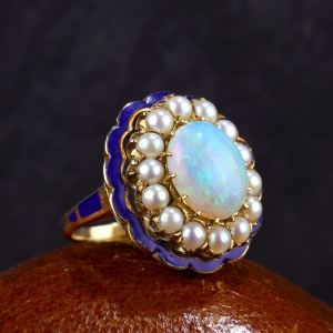 1930-50s Retro 4.5 ct Opal Ring