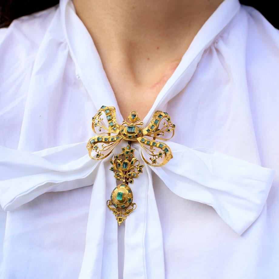 Antique Spanish Emerald Pendant