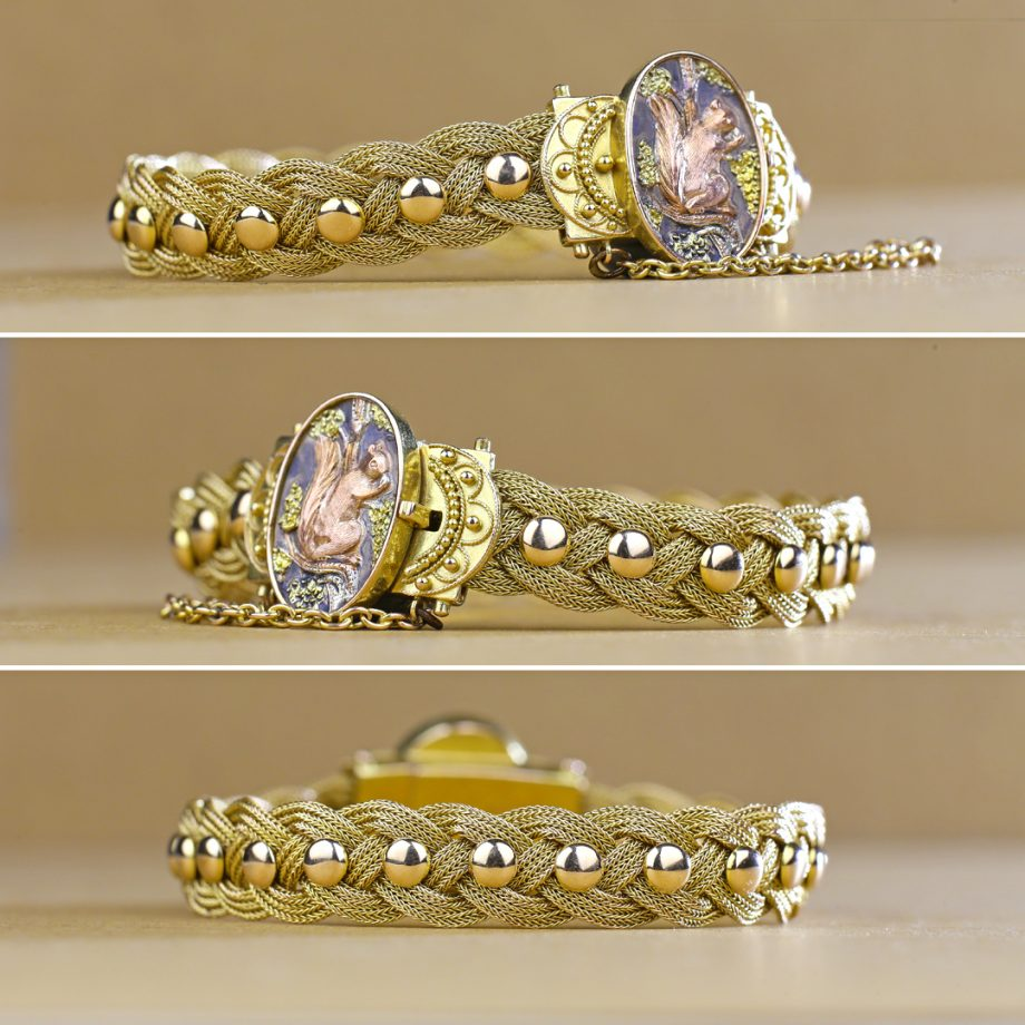 Victorian Aesthetic Movement Gold Braided Bracelet