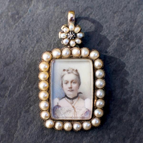 Georgian & Victorian Portrait Miniature Pendant