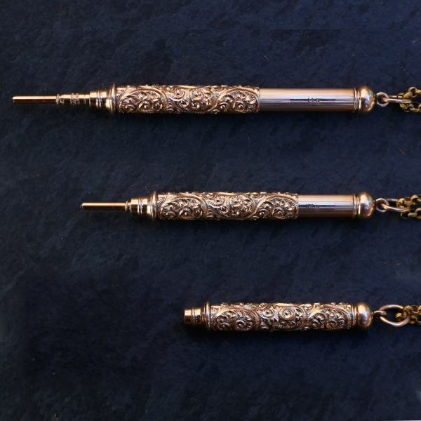 Victorian Edwardian 14k Gold Telescoping Pencil