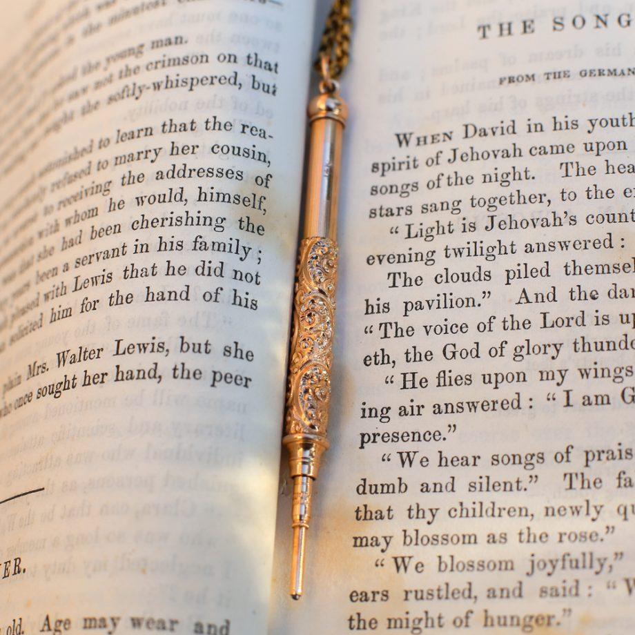 Victorian Edwardian 14k Gold Telescoping Pencil