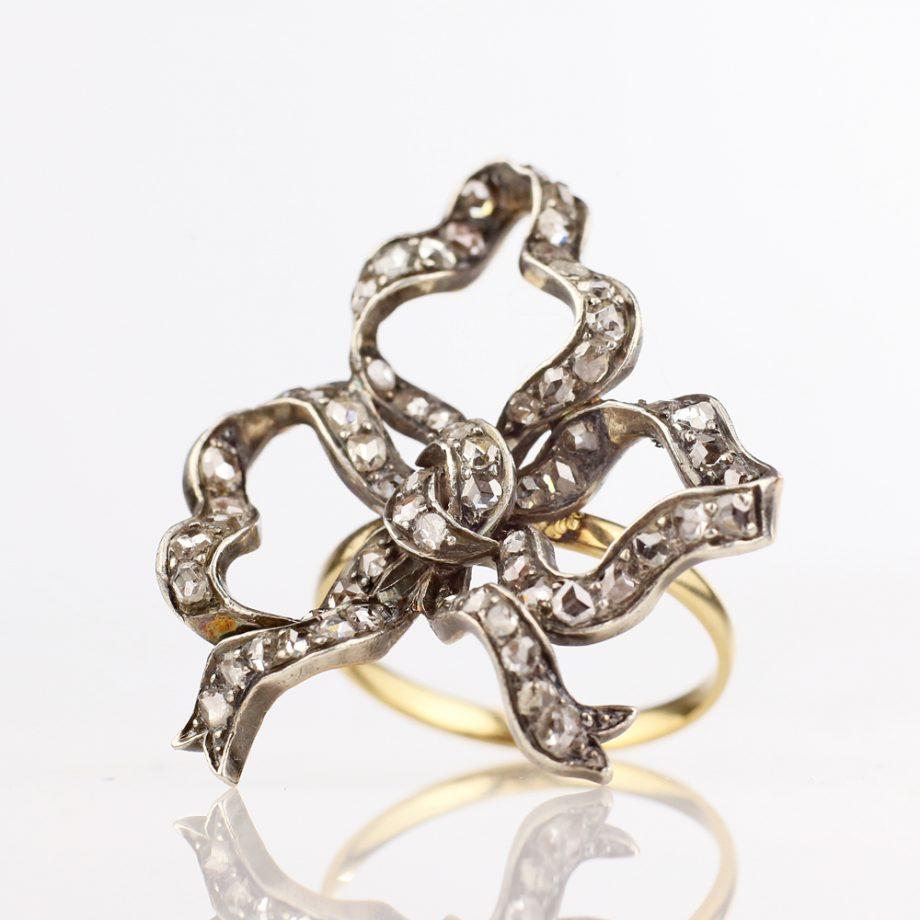 Victoria Rose Cut Diamond Bow Ring