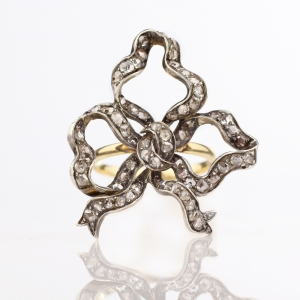 Victoria Rose Cut Diamond Bow Ring