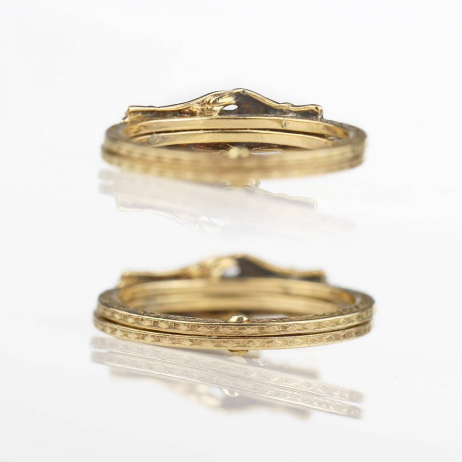 Antique Victorian 10k Fede Gimmel Ring