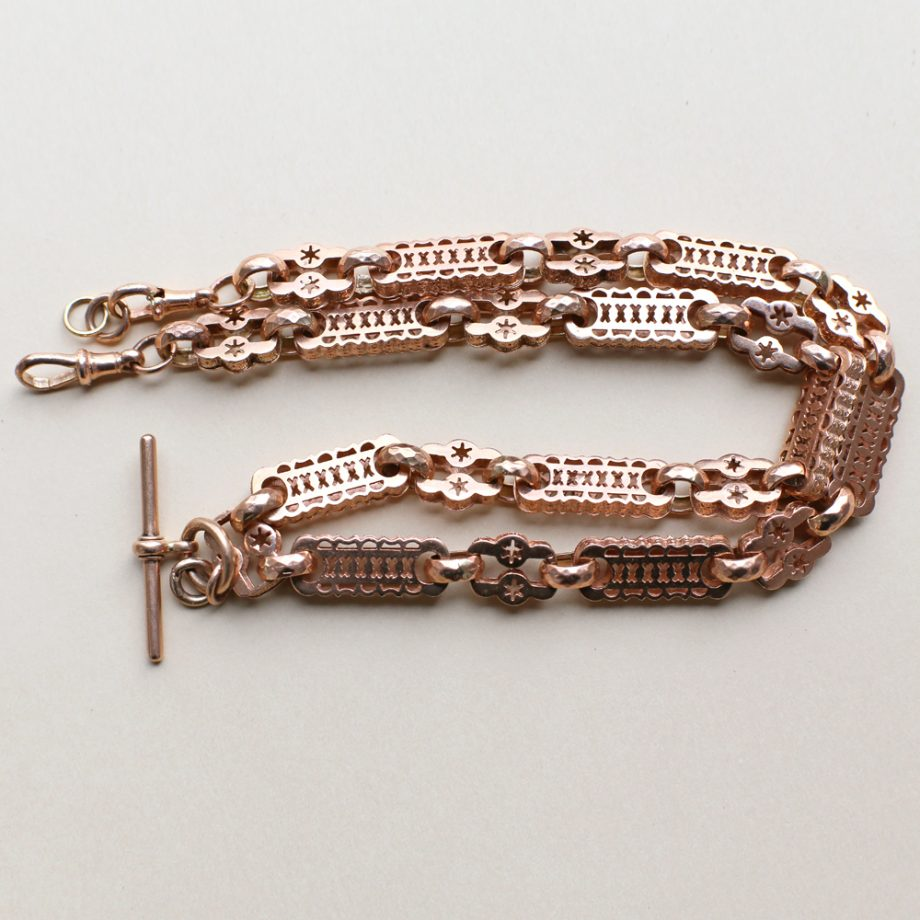 Victorian Watch Chain Starry Links
