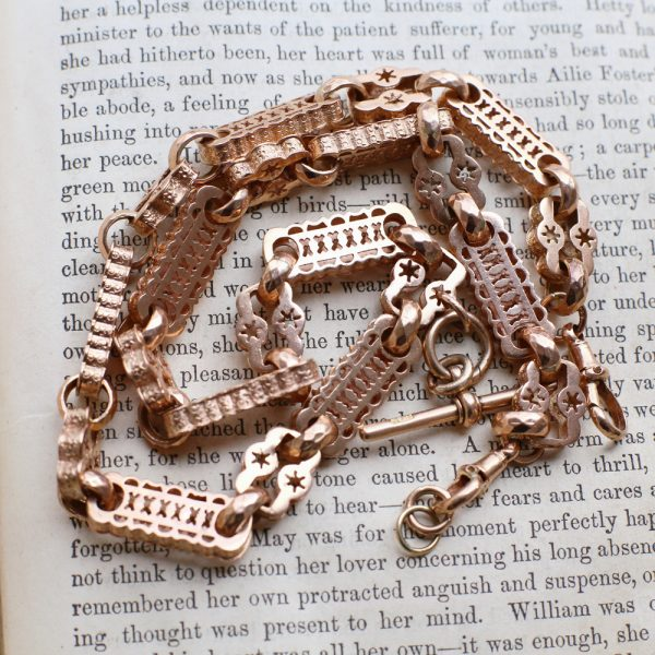 Victorian Watch Chain Starry Links
