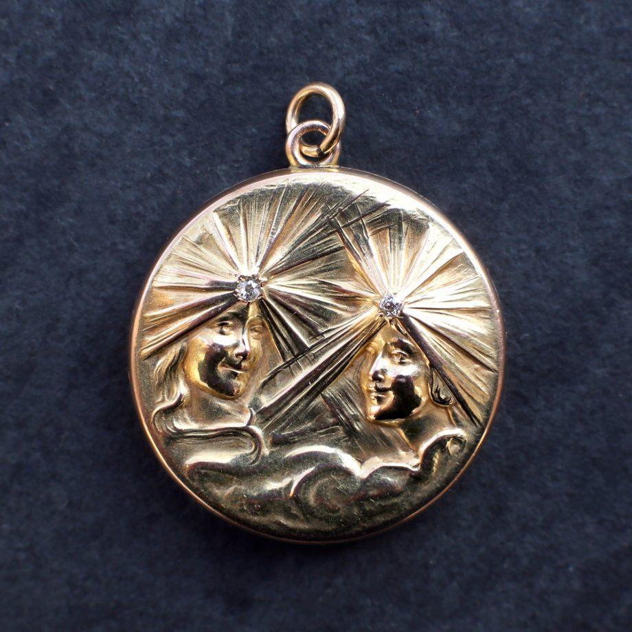 Art Nouveau Gold Locket