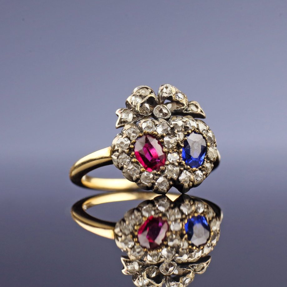 Victorian Double Heart Ring