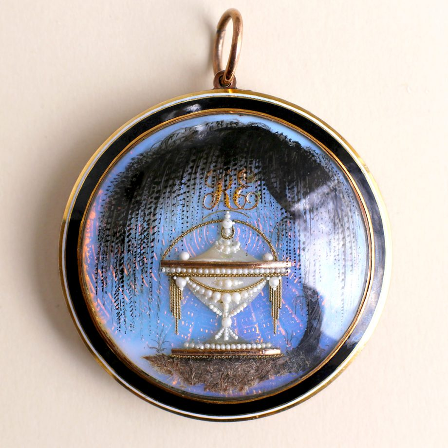 Georgian Mourning Pendant Weeping Willow Urn