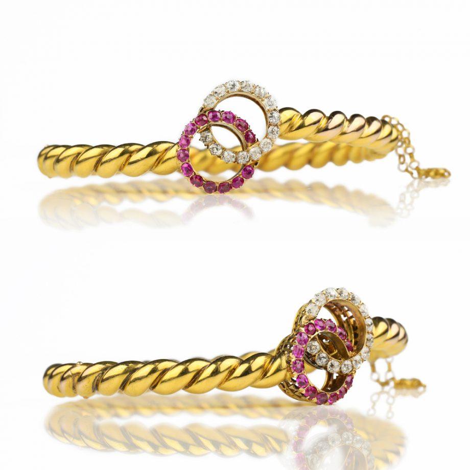 Victorian Ruby Diamond Bracelet