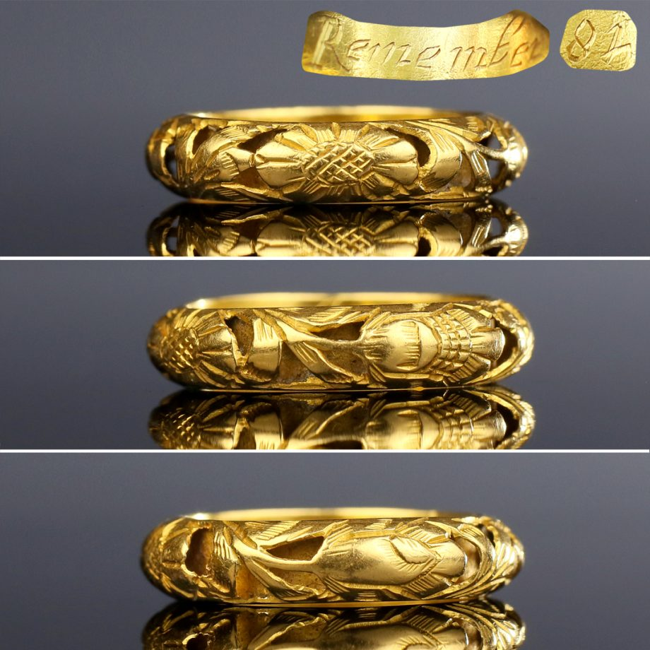 17th c Openwork Mourning Ring