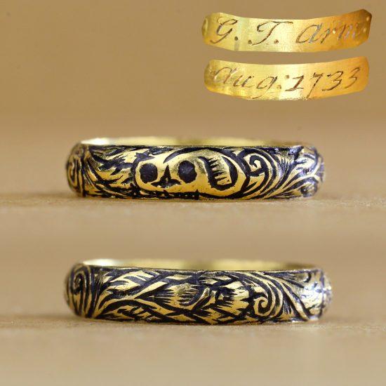 Georgian Memento Mori Skull Mourning Ring