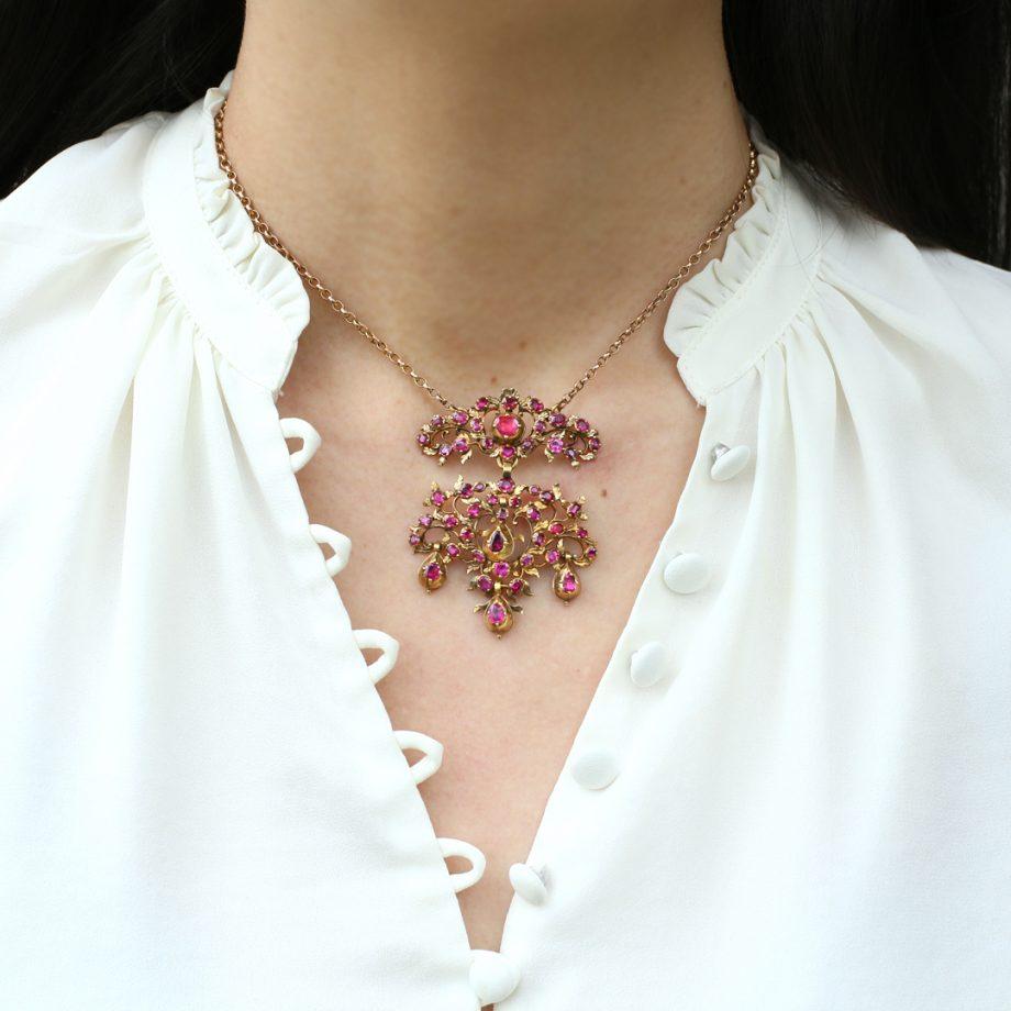 Georgian Ruby Pendant