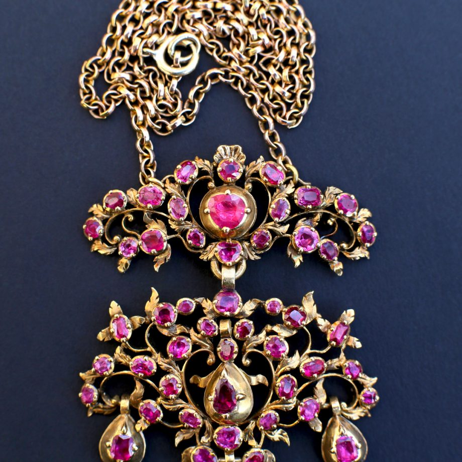 Georgian Ruby Pendant