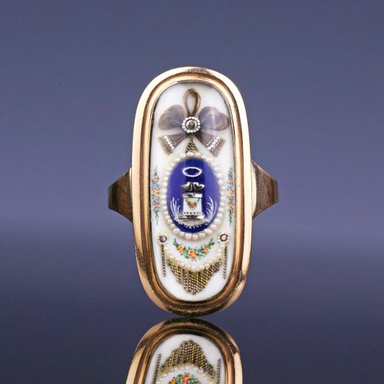 c. 1790s Georgian 'Altar of Love' Sentimental Ring