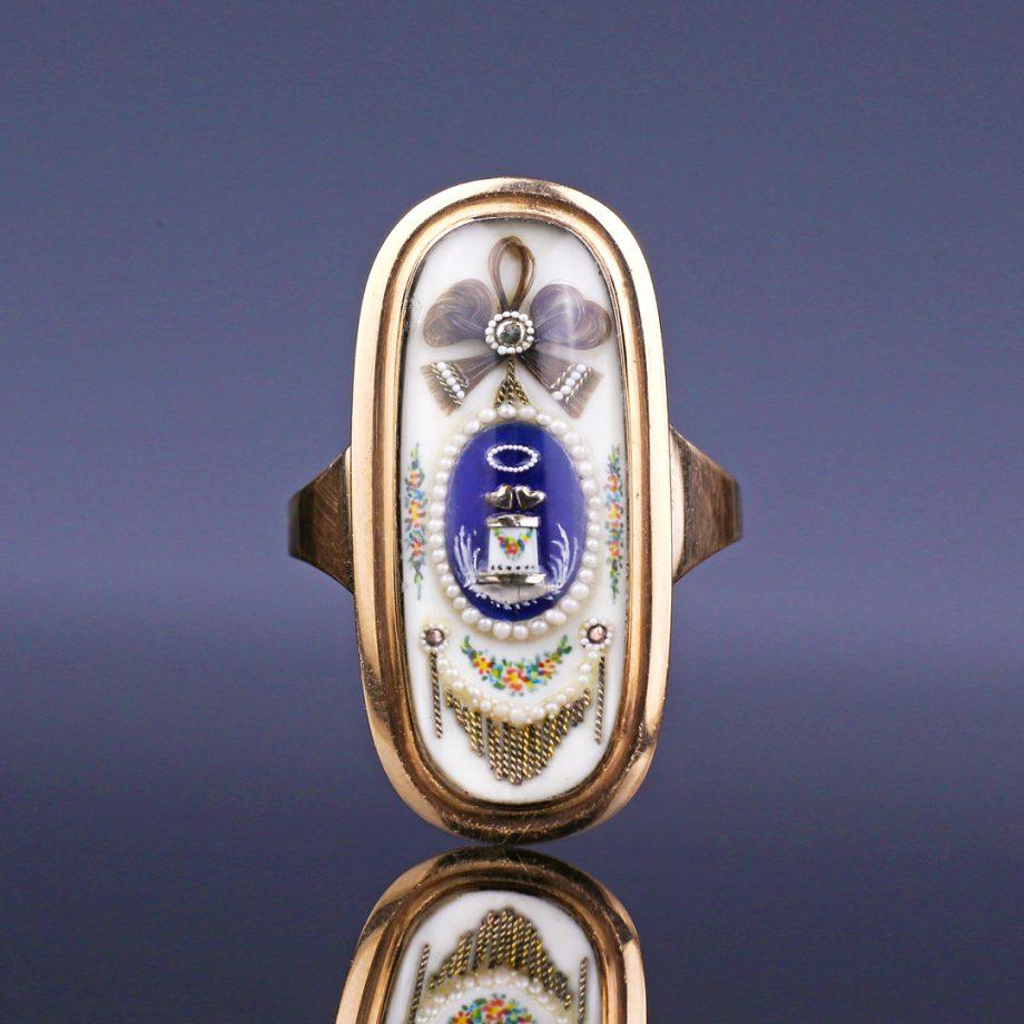 c. 1790s Georgian 'Altar of Love' Sentimental Ring