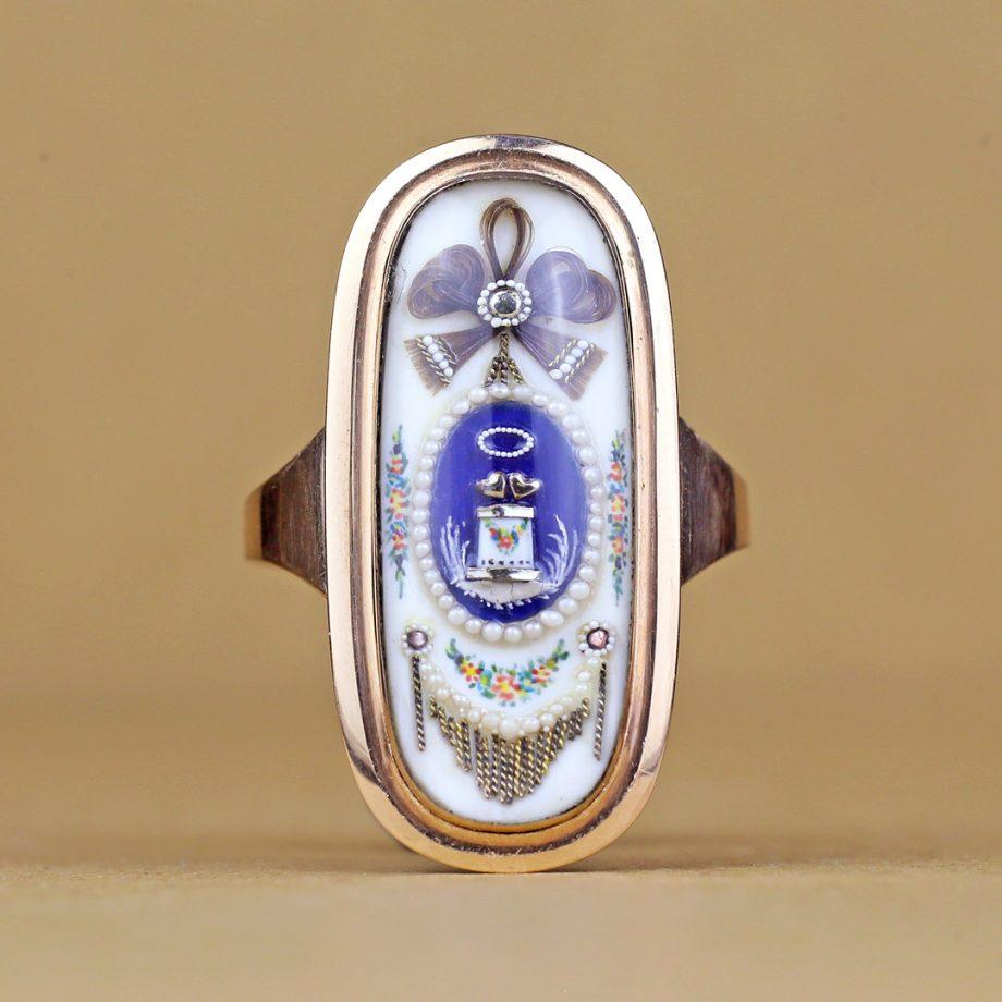 Georgian Double Heart Ring