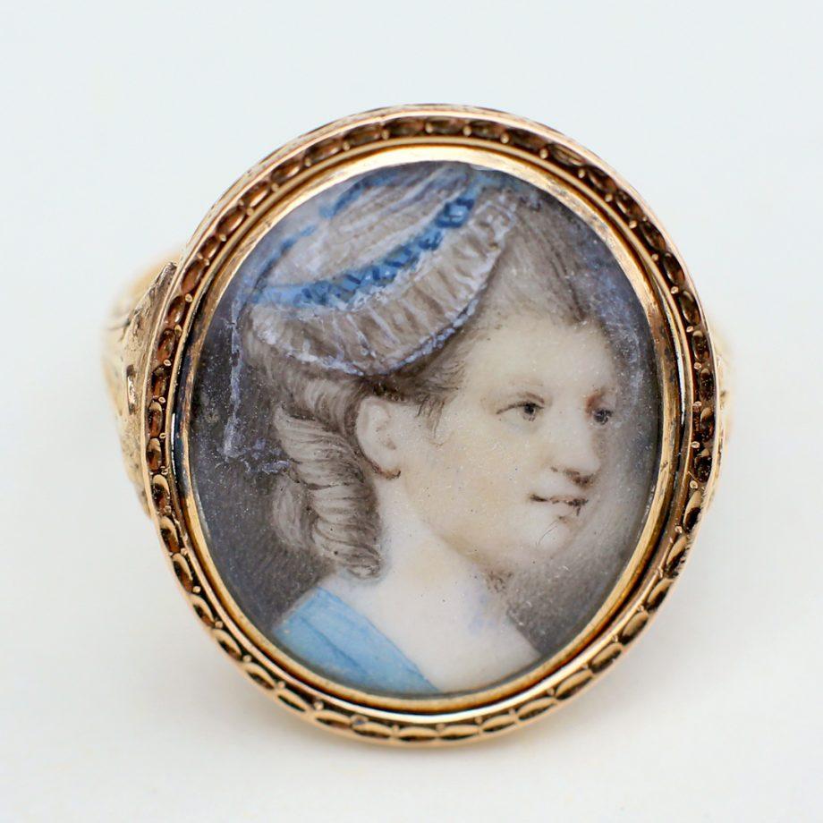 18th century portrait ring
