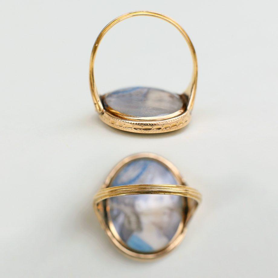 Georgian Swivel Double Portrait Ring