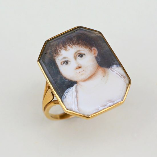 French Portrait Miniature Ring of a Child