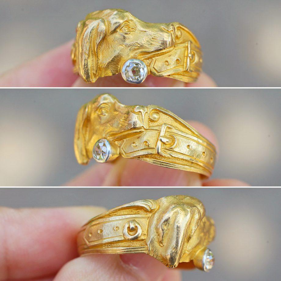 Antique dog ring