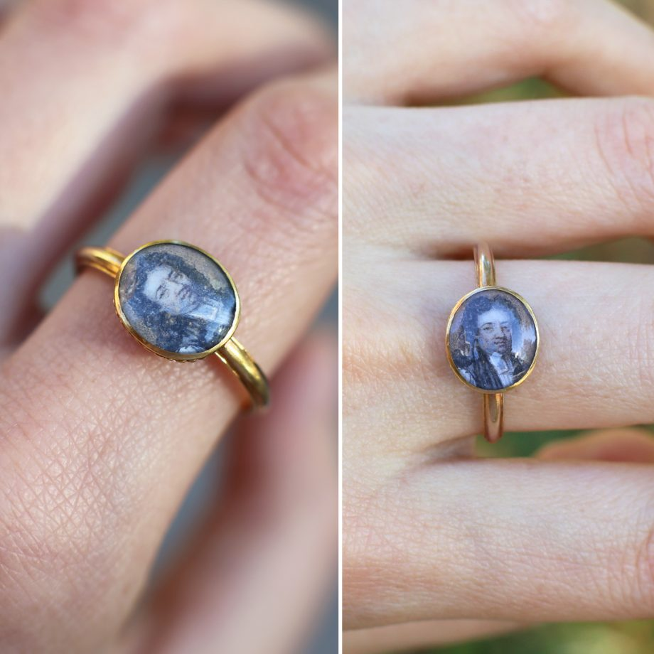 Georgian Portrait Ring