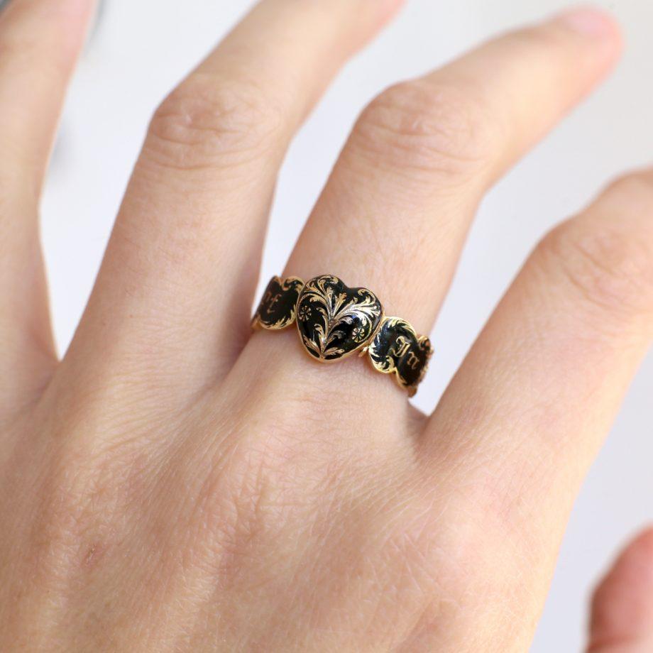 1832 Heart Locket Georgian Mourning Ring
