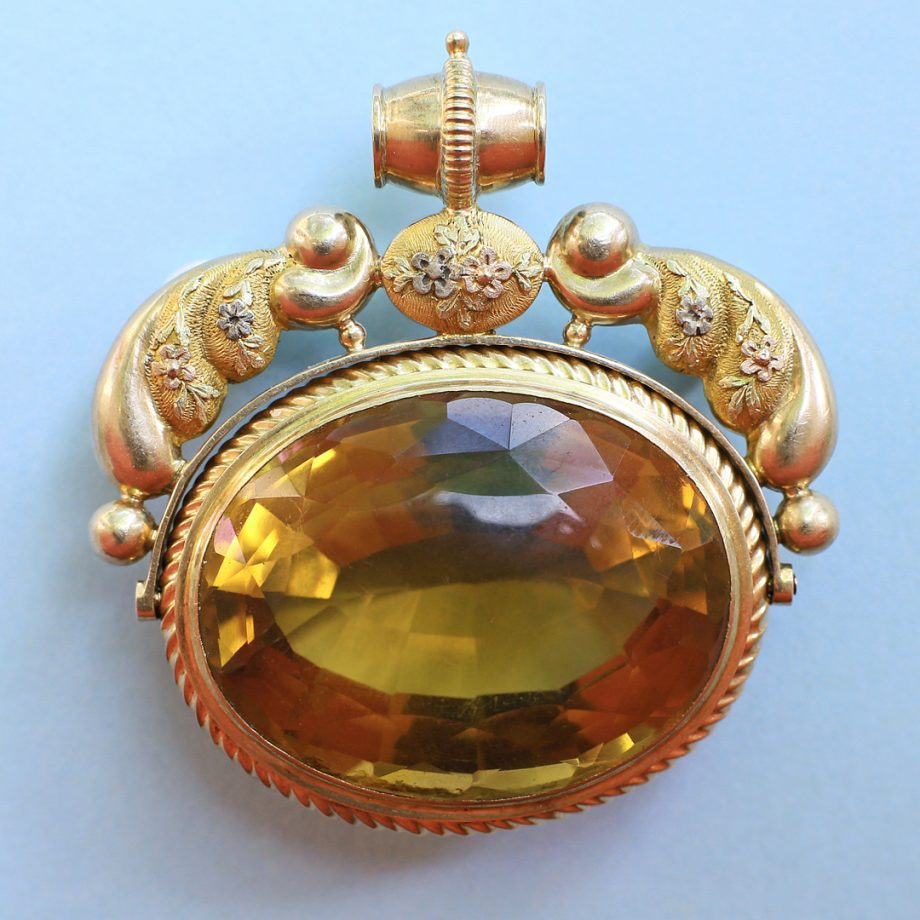 c. 1820-30 French Charles X Colored Gold Fob