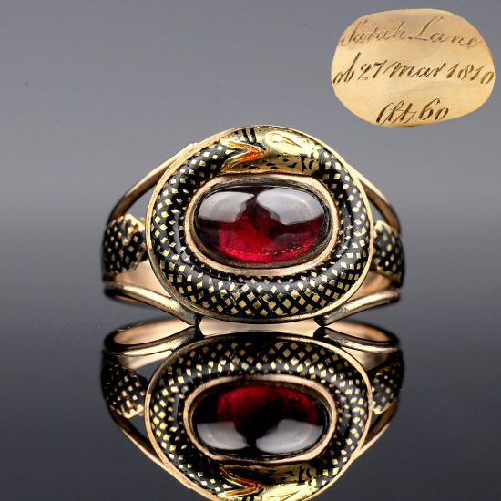 1810 Georgian Ouroboros Snake Mourning Ring