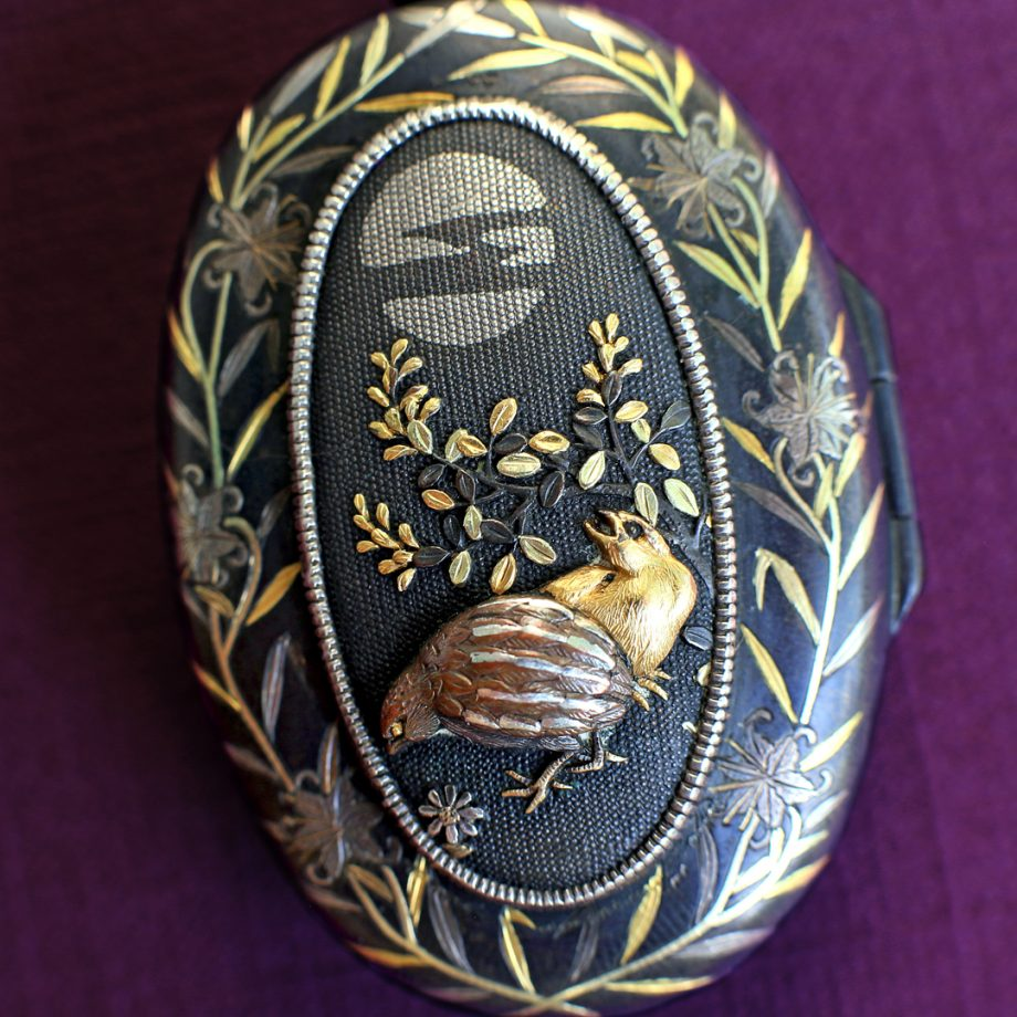 19th c Antique Japanese Shakudo Locket