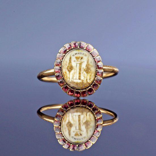18th century Georgian Sentimental Amatory Ring
