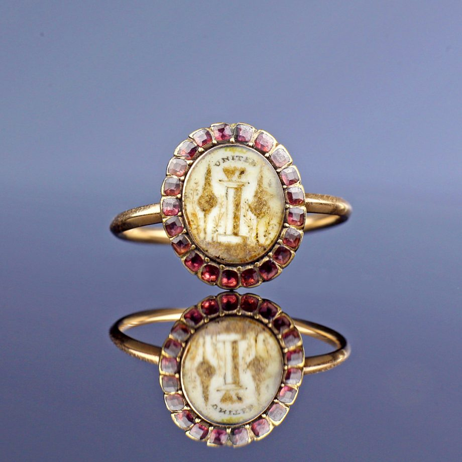 18th century Georgian Sentimental Amatory Ring