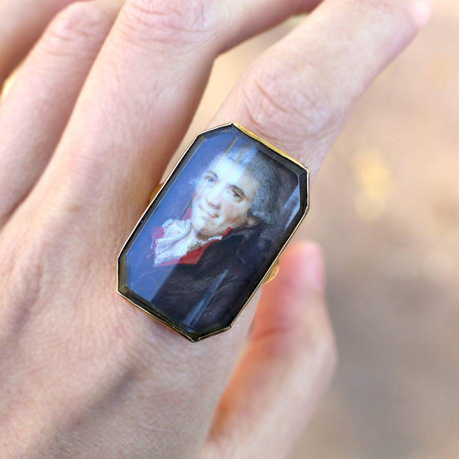 18th c portrait ring
