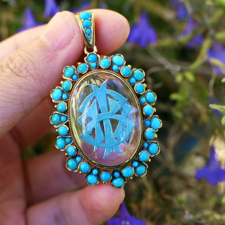 Victorian Essex Crystal Pendant